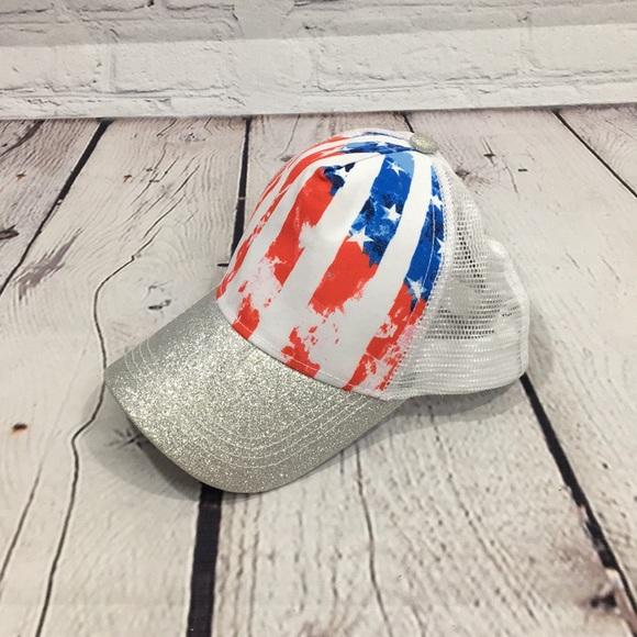 UEC Claire's Stars & Stripes snap hat patriotic